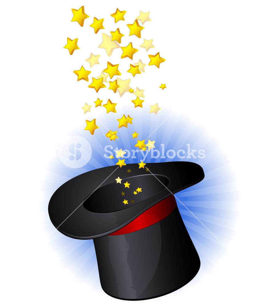 The Magic Hat. Vector.