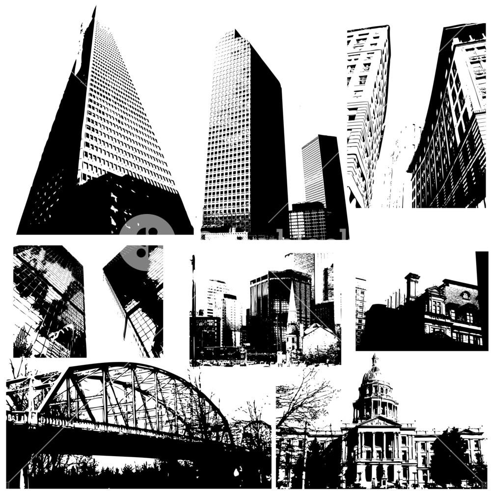 Traced Buildings Vectors