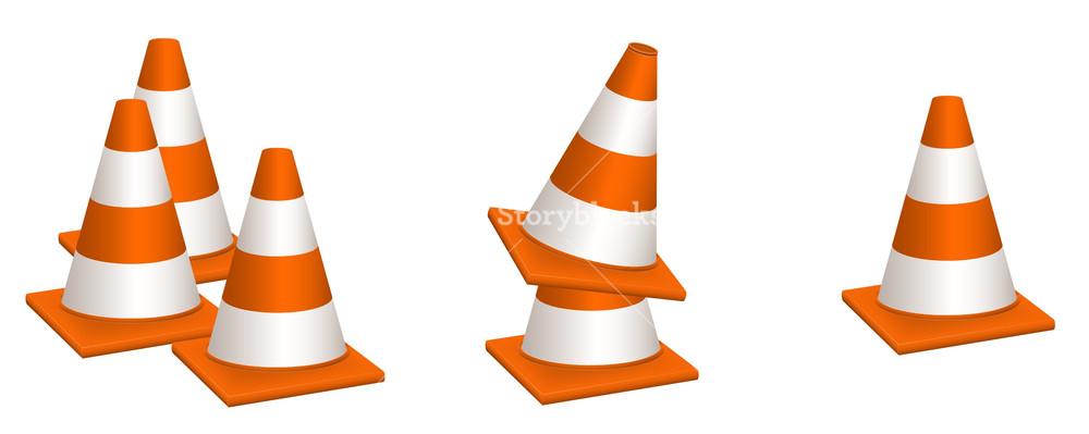 Traffic Cones Vectors