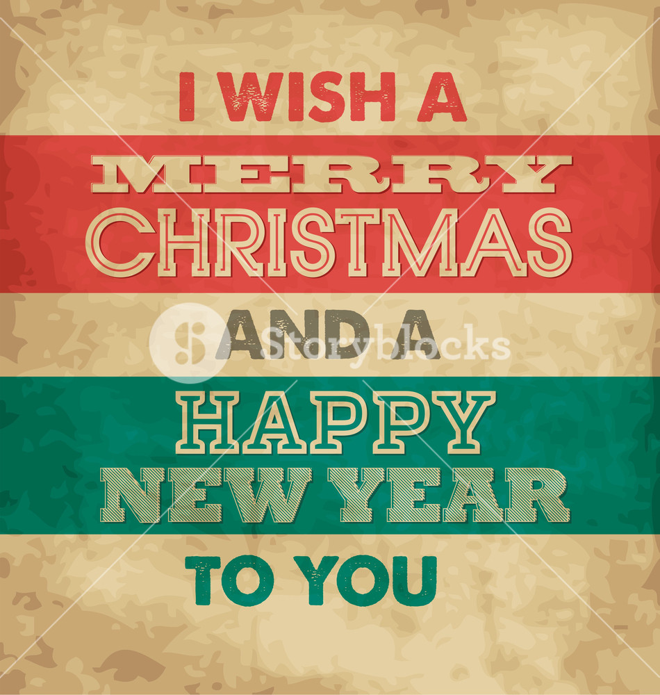 Typographic Christmas Greeting Card