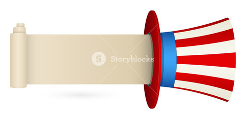 Uncle Sam Hat With Message Space  Constitution Day Vector Illustration