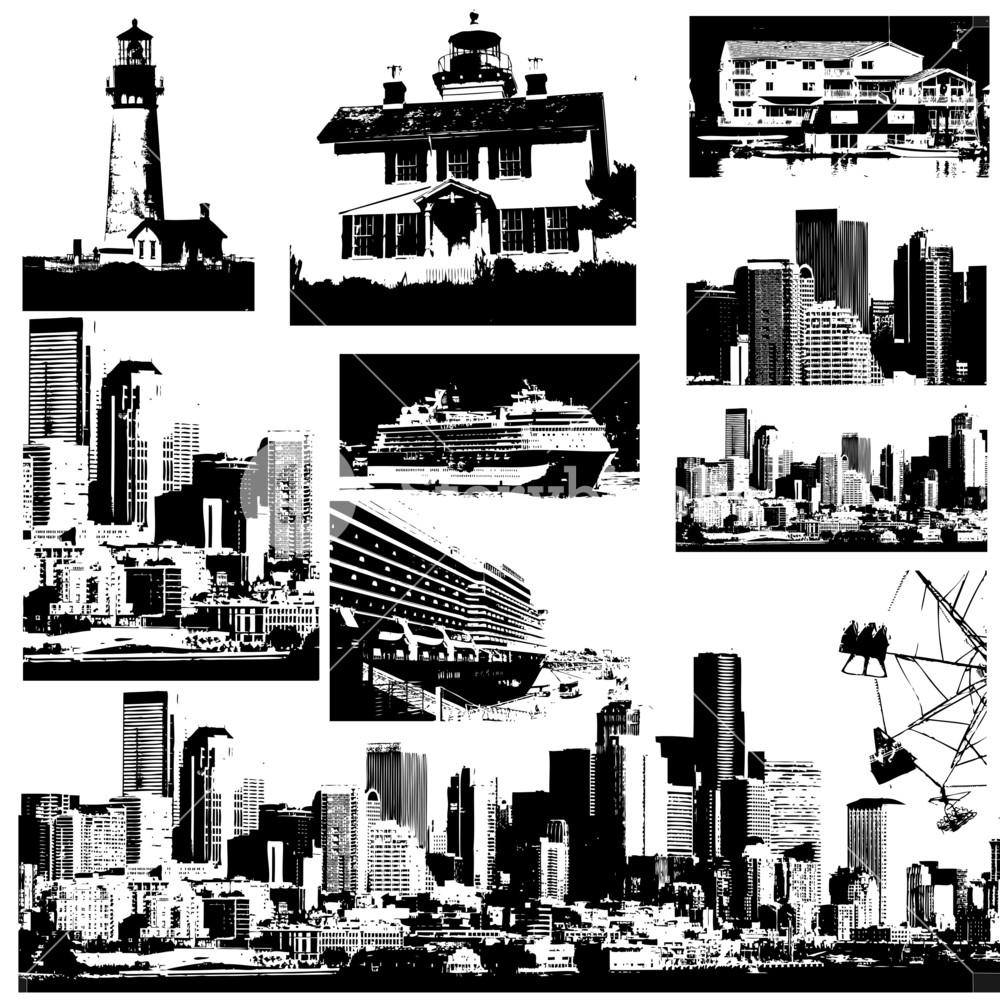 Urban Buildings Silhouettes