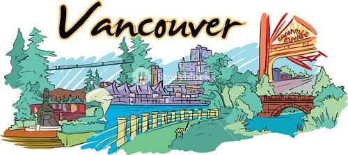 Vancouver Vector Doodle