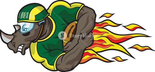 Vector American Football Mascot