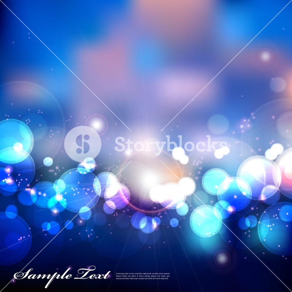 Vector Blurry Blue Lights
