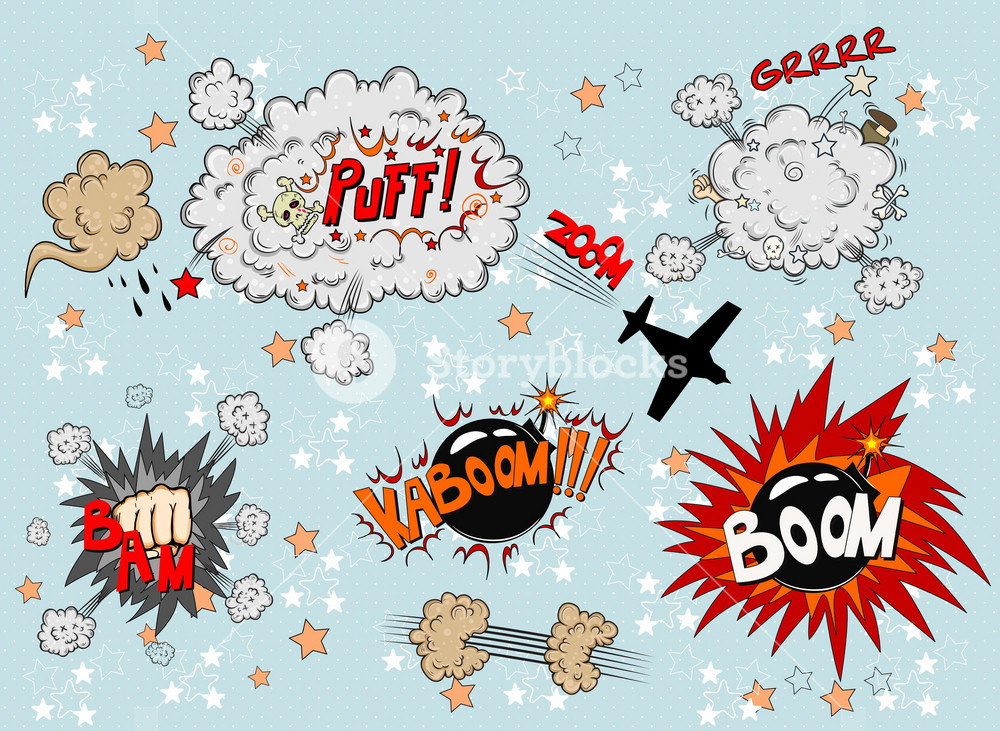 Vector Comic Book Explosion