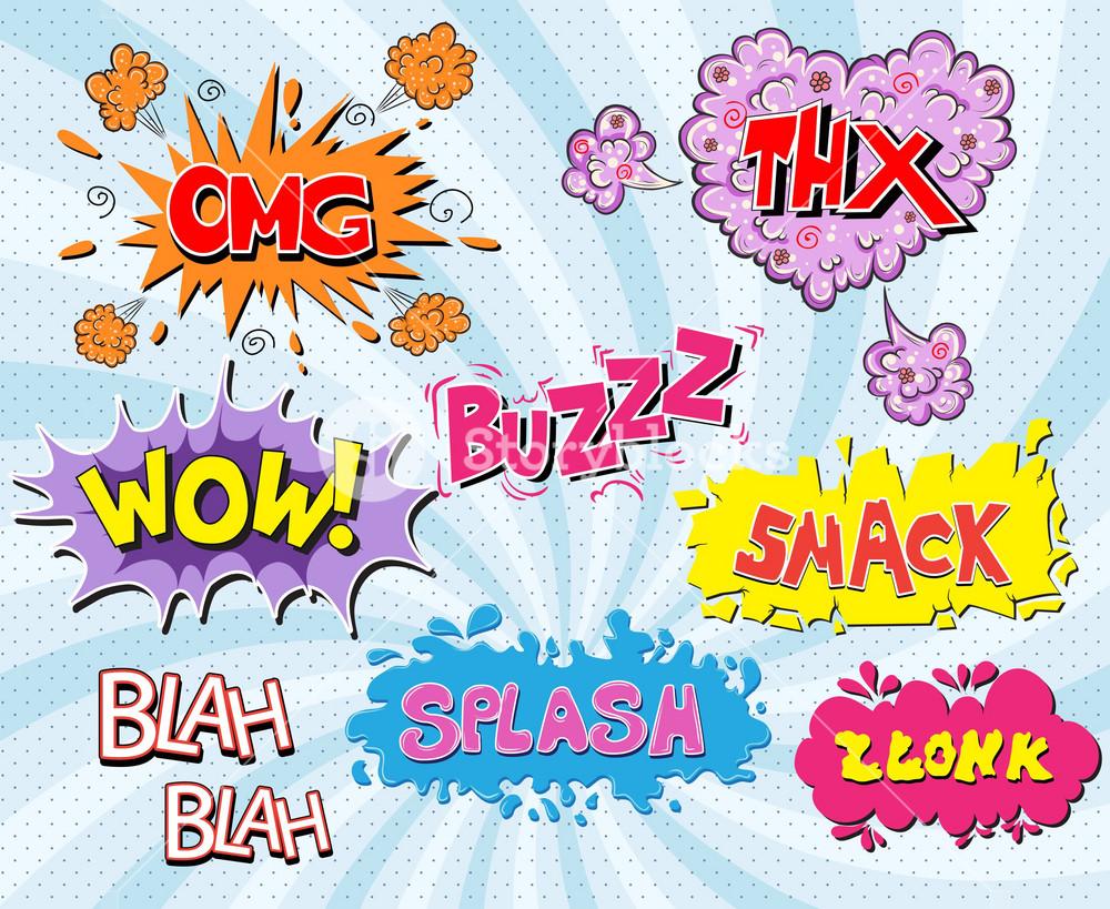 Vector Comic Book Explosions