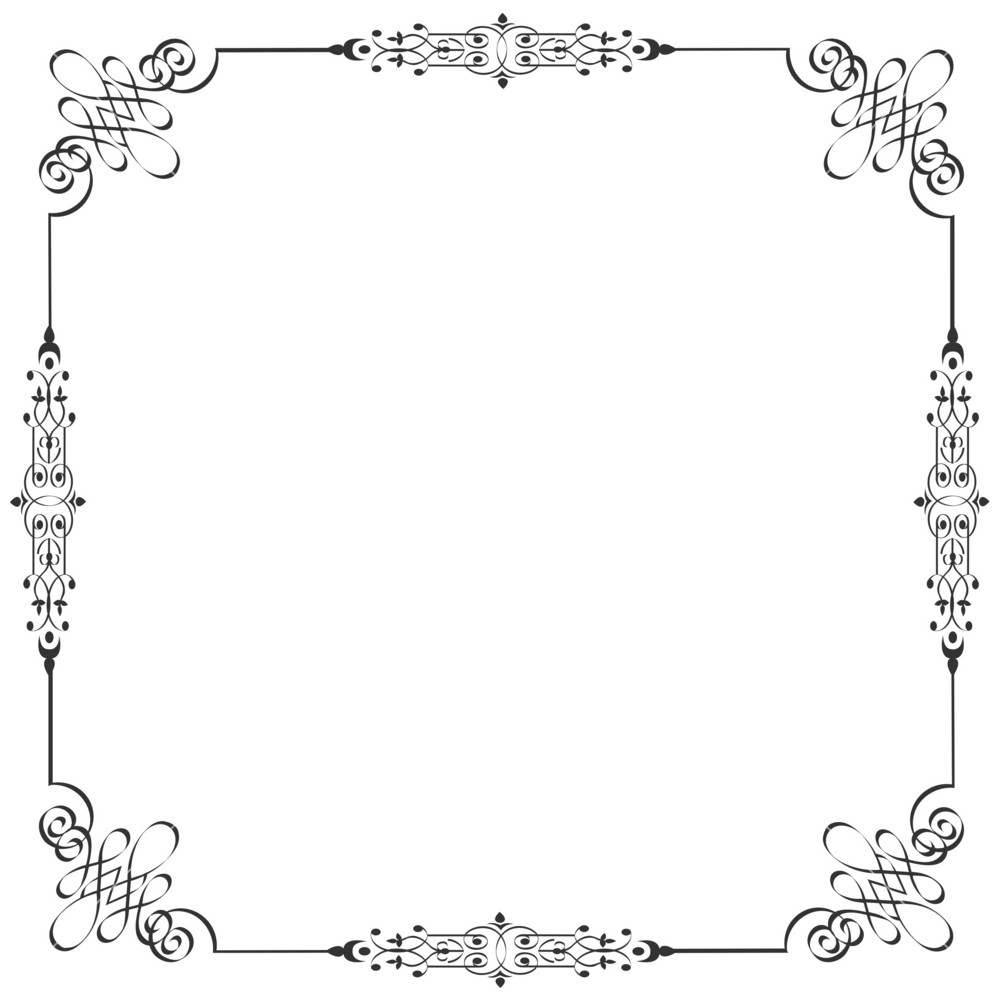 Vector Frame In Vintage Style