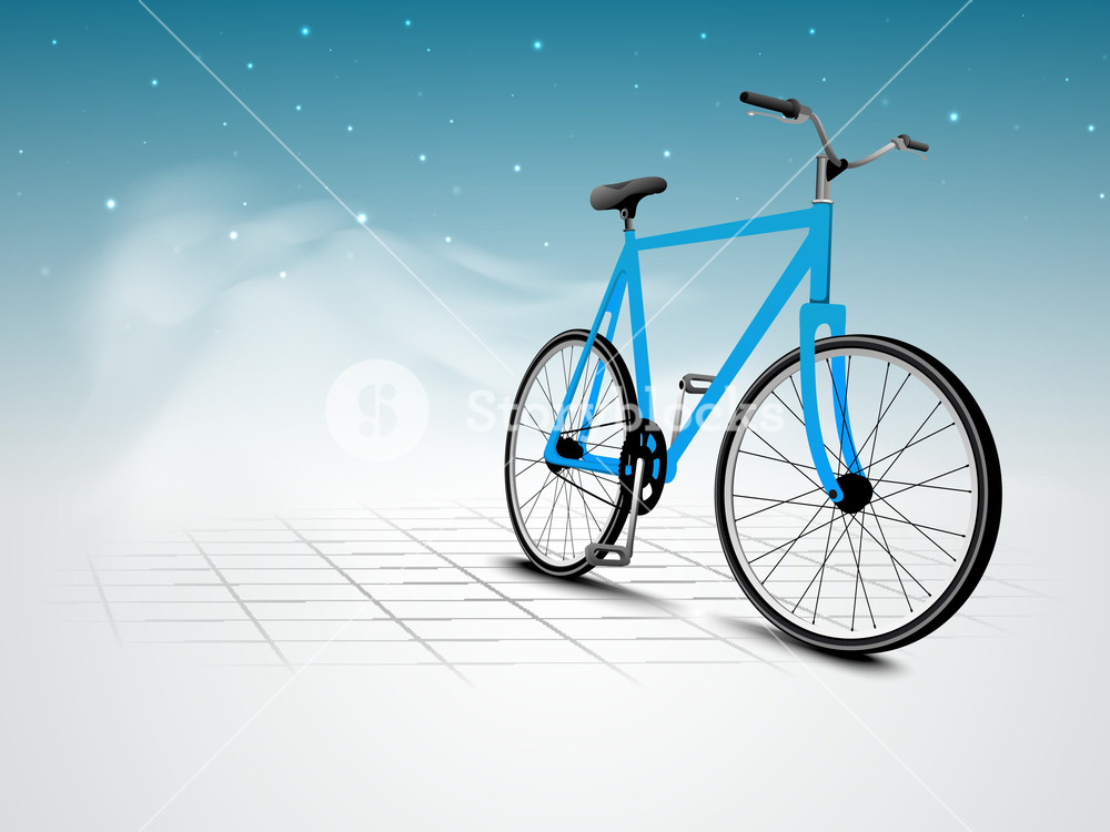 Vector Illustration Of A Bicycle On Abstract Nature Background Royalty Free Stock Image Storyblocks