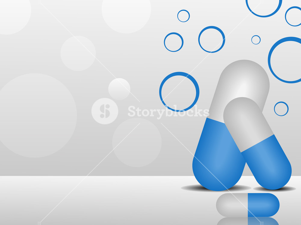 Vector  Medical Background With Capsules