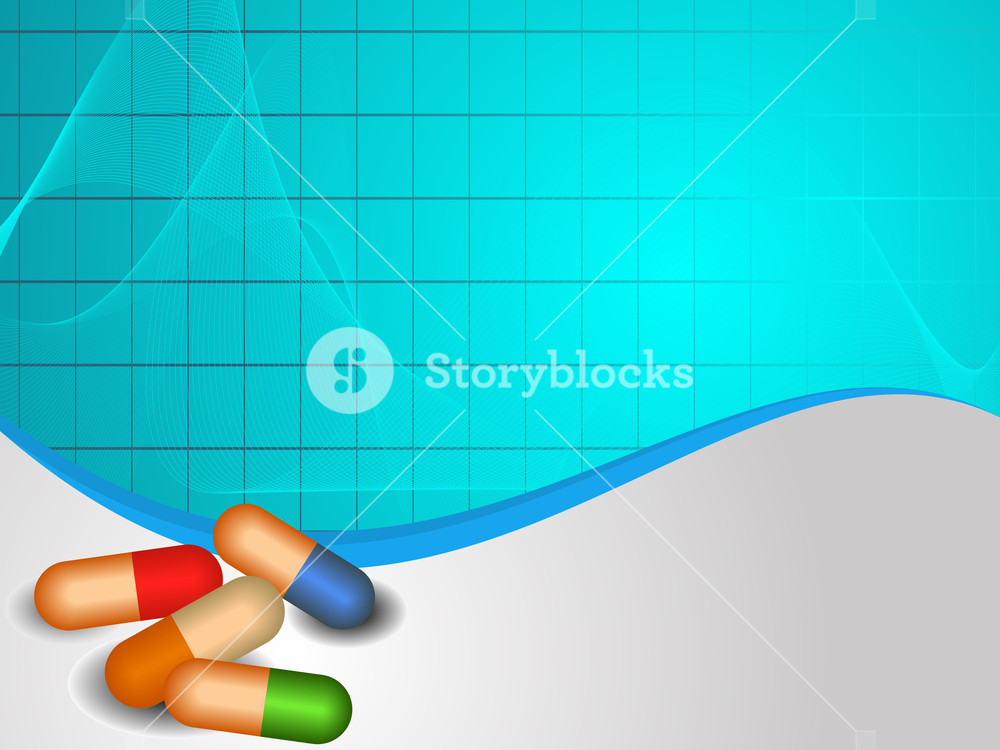 Vector Medical Background With Capsules.