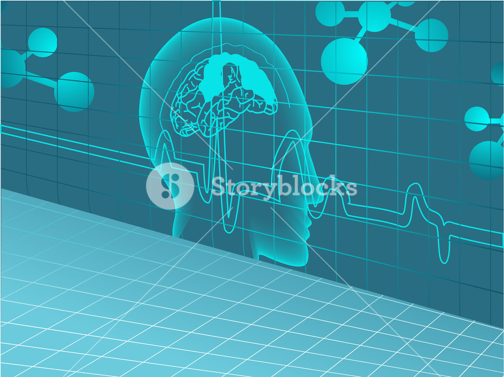 Vector Medical Background With Human Brain