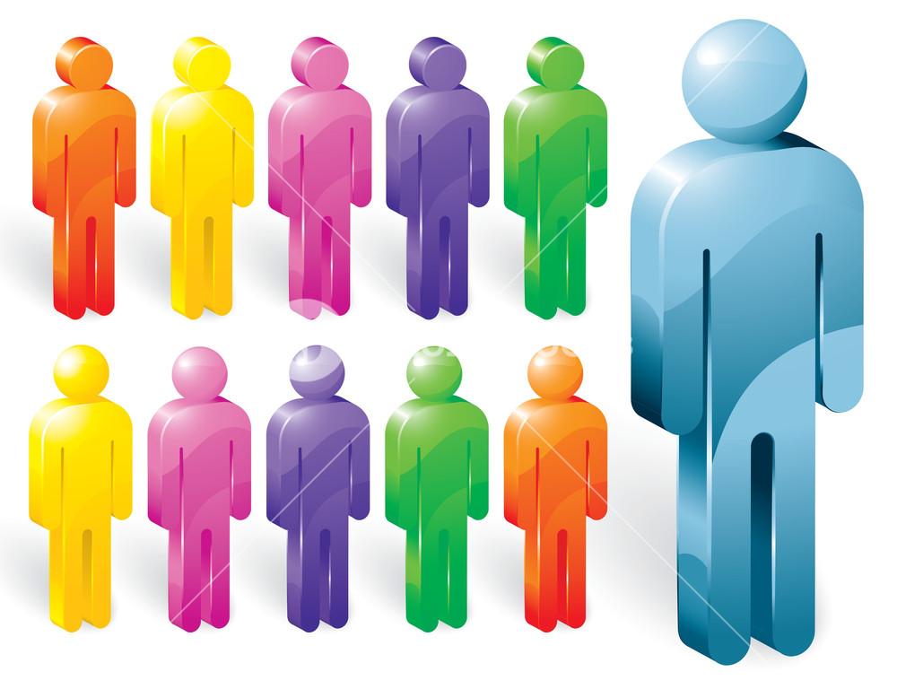 Vector People. Icon Set.