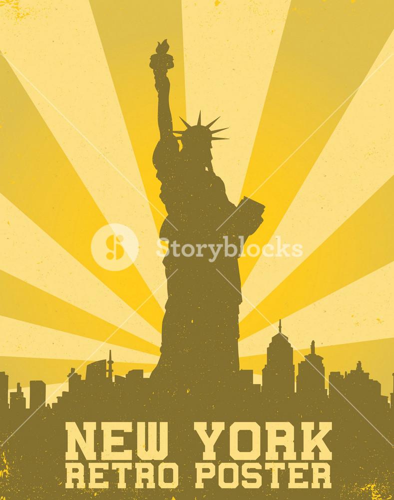 Vector Retro New York Background