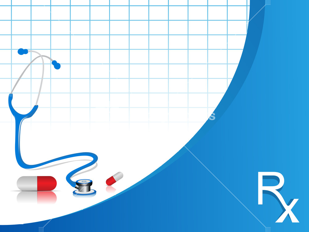 Vector Stethoscope Illustration With Capsules