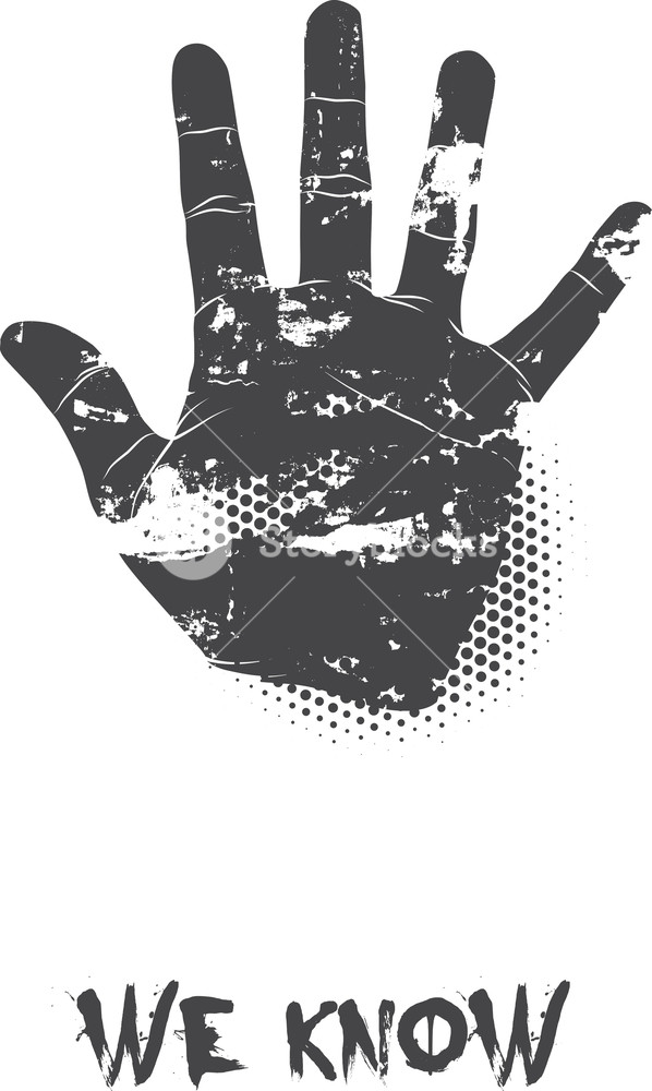 Vector T-shirt Design With Hand