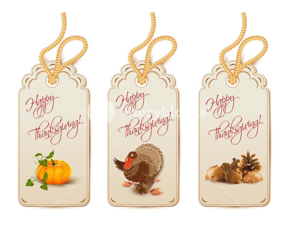Vector Thanksgiving Shopping Tags