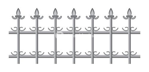 Vintage Spear Fence