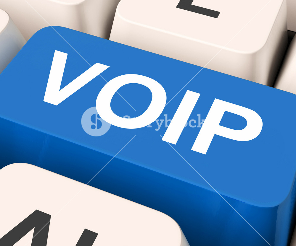 Voip Key Means Voice Over Internet Protocol