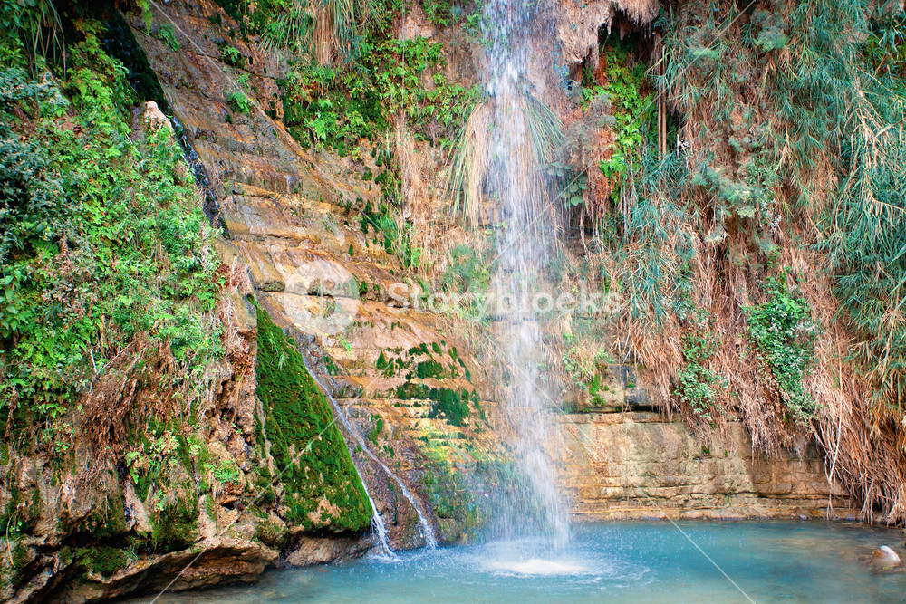 Waterfall in Judean Desert