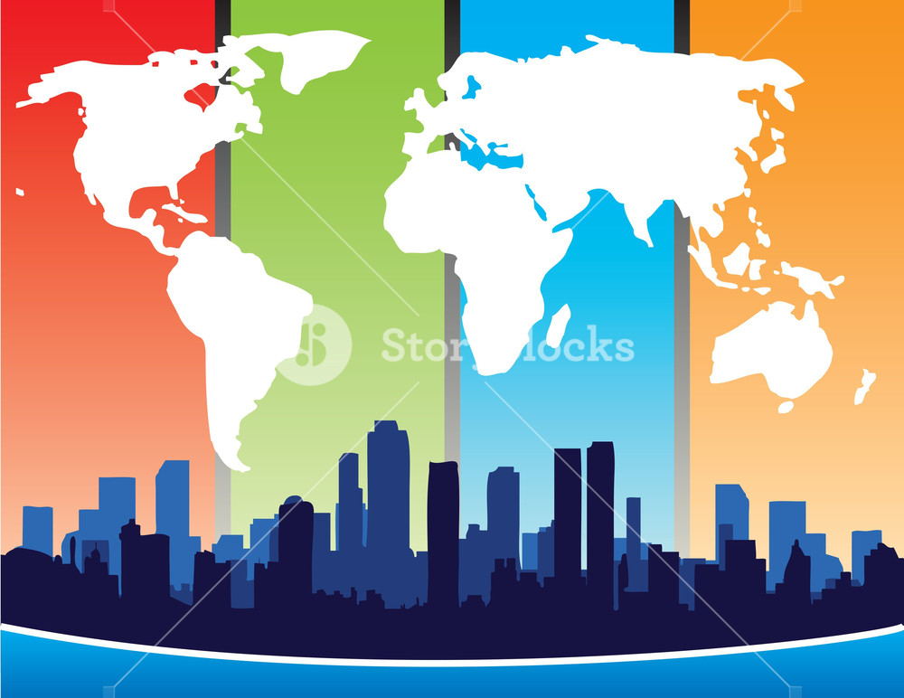 World Map And City Design