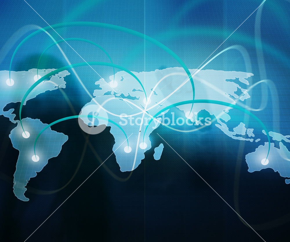 World Map Business Background