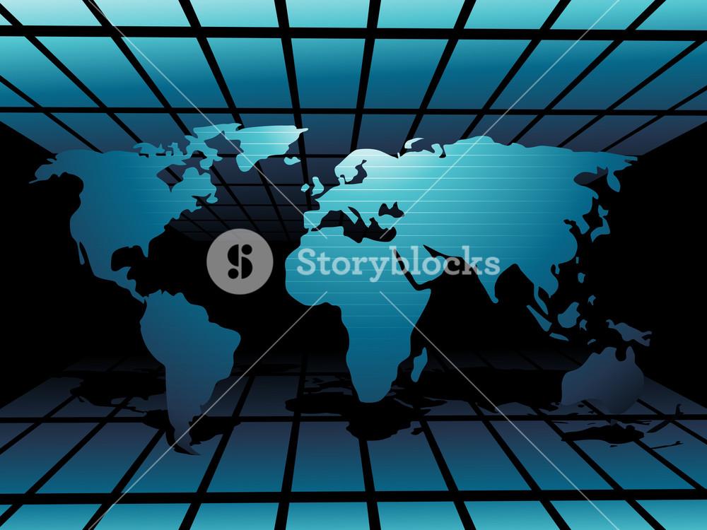 World Map Technology Style3