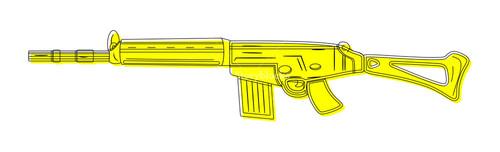 Yellow Fancy Gun Drawing