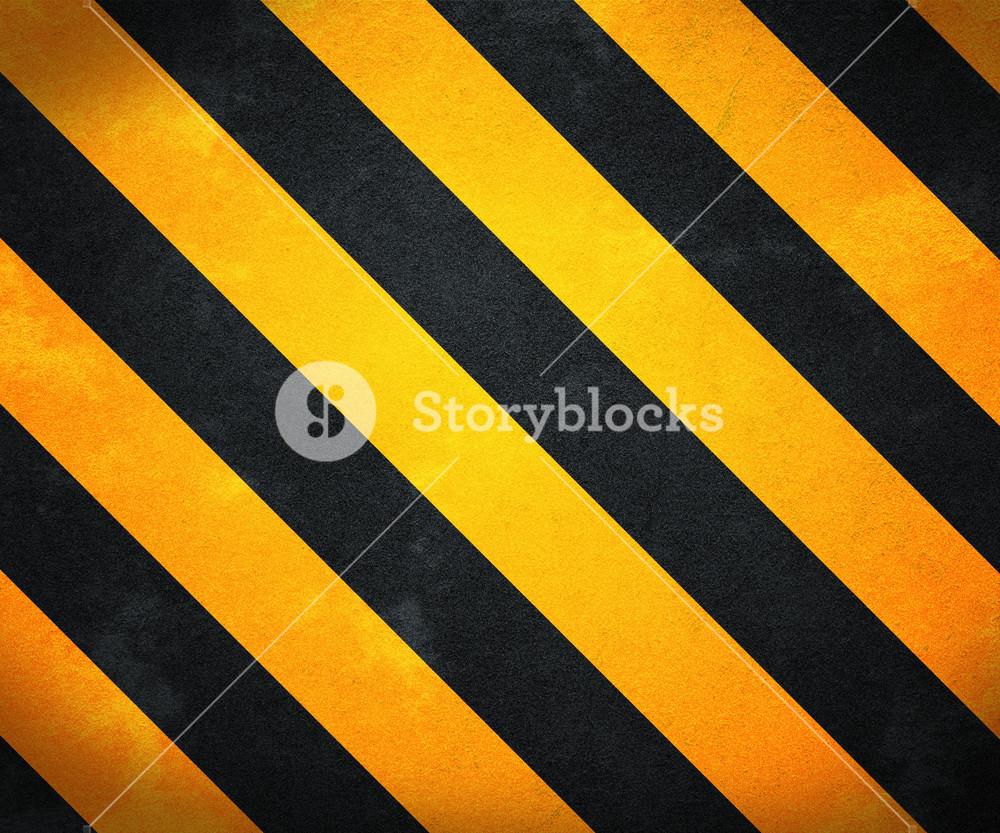 Yellow Warning Stripes Background
